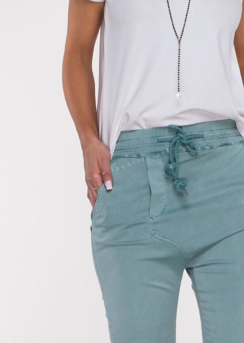 Włoskie spodnie CLADEN BAGGY morski /66