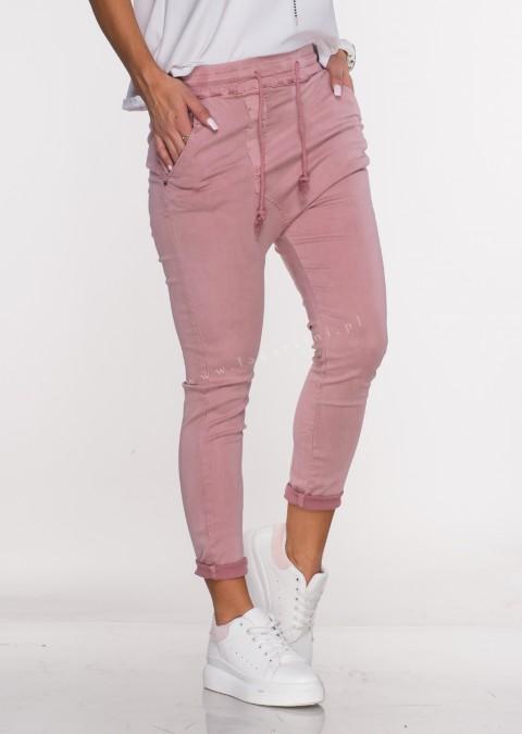 Włoskie spodnie CLADEN BAGGY różowy
