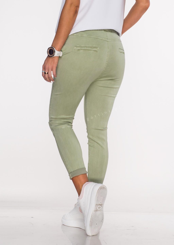 Włoskie spodnie CLADEN BAGGY oliwkowe/70