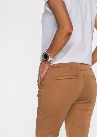 Włoskie spodnie CLADEN BAGGY brązowe /22