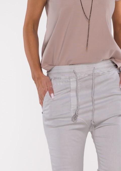 Włoskie spodnie CLADEN BAGGY jasny szary /29