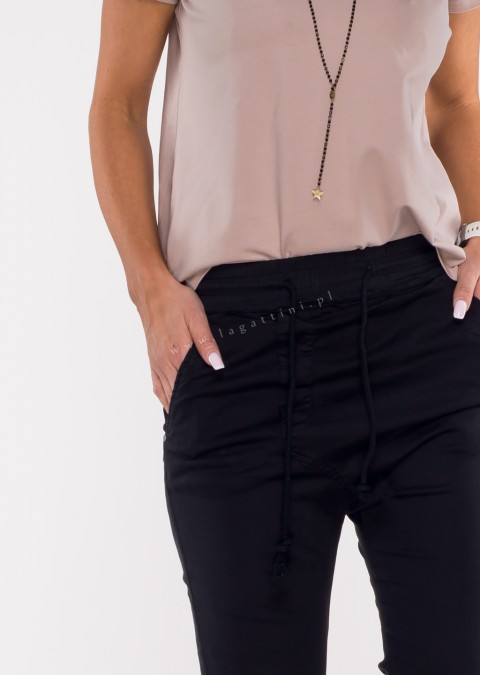 Włoskie spodnie CLADEN BAGGY czarny