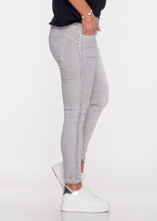Włoskie jeansy MORESCO szare