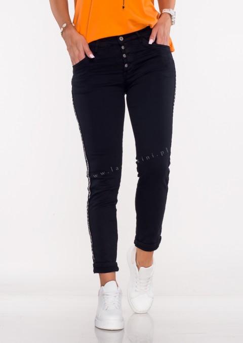 Włoskie jeansy MORESCO czarny