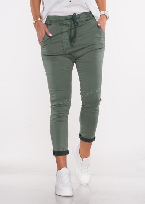 Włoskie spodnie CLADEN BAGGY khaki