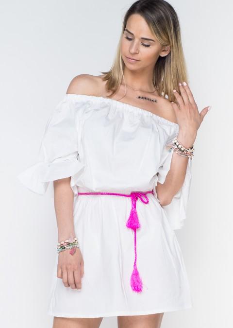 52fec71cfc Italy bawełniana sukienka hiszpanka biała ...