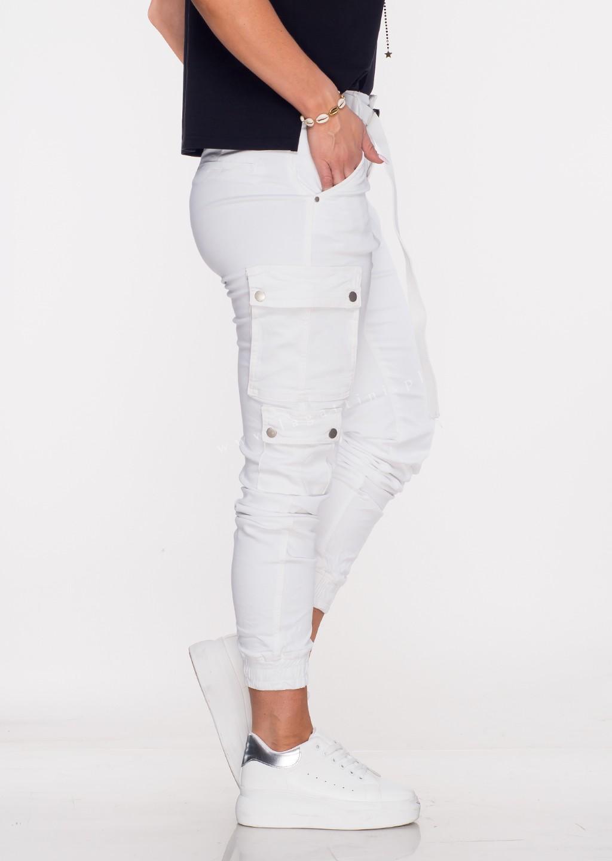 Włoskie jeansy BAGGY LIMITED + pasek khaki