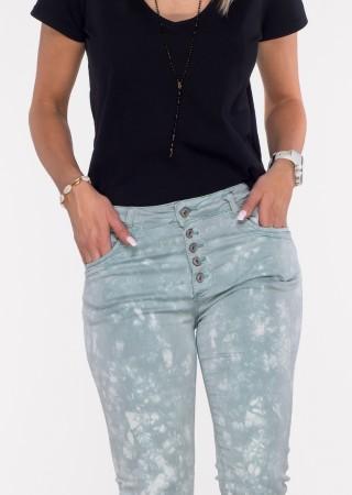 Włoskie spodnie LA ROTTA guziki morski