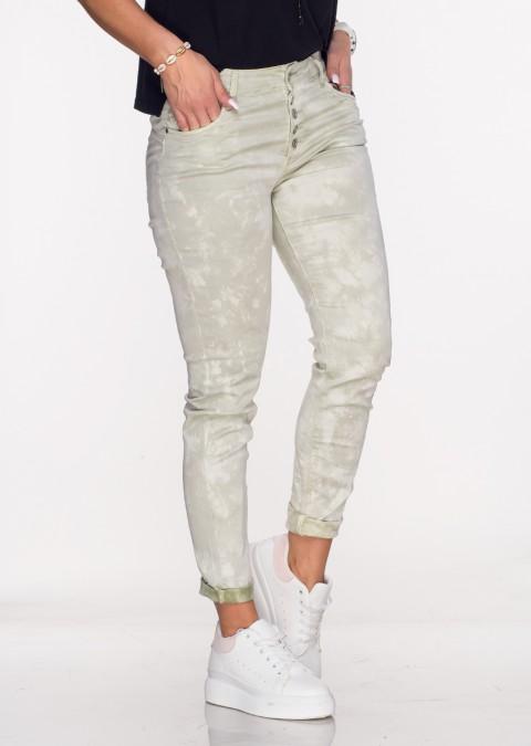 Włoskie spodnie LA ROTTA guziki oliwkowe /56