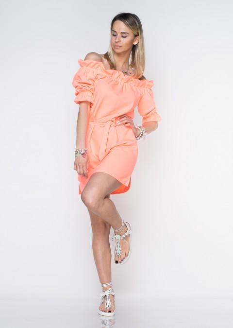 5dd22dfb4a Italy sukienka hiszpanka pomarańcz neon Italy sukienka hiszpanka pomarańcz  neon