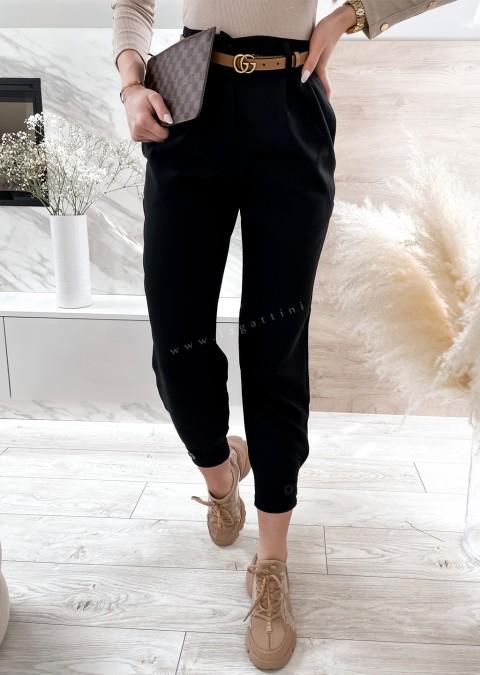 Włoskie spodnie ELEGANT VALVON czarne