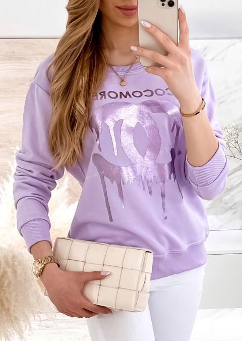 Bluza Cocomore CC fioletowa z nadrukiem