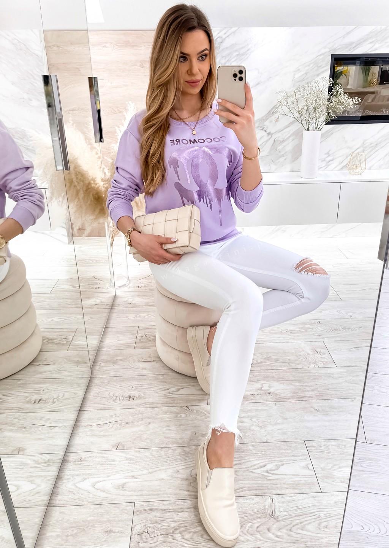 Bluza Cocomore CC czarny z fioletowym nadrukiem