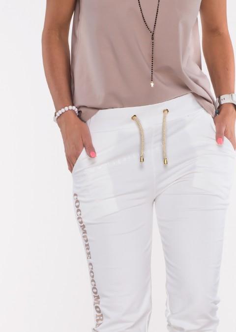 Spodnie dresowe COCOMORE kremowe