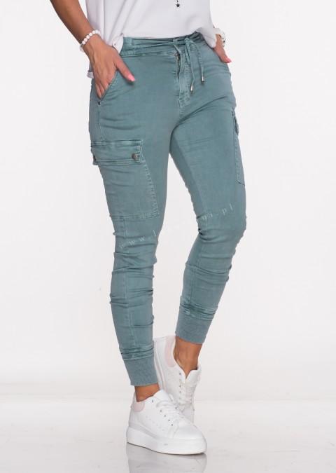 Włoskie jeansy Silver Buttons morskie/61