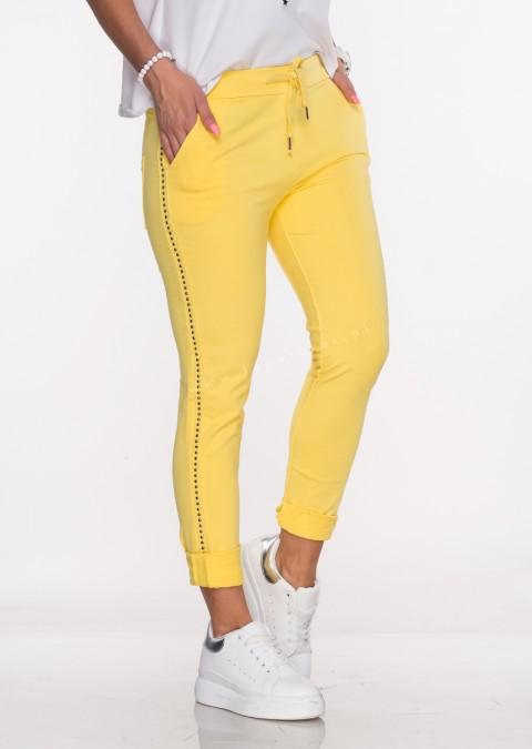 Włoskie spodnie dresowe TORELLO żółtym