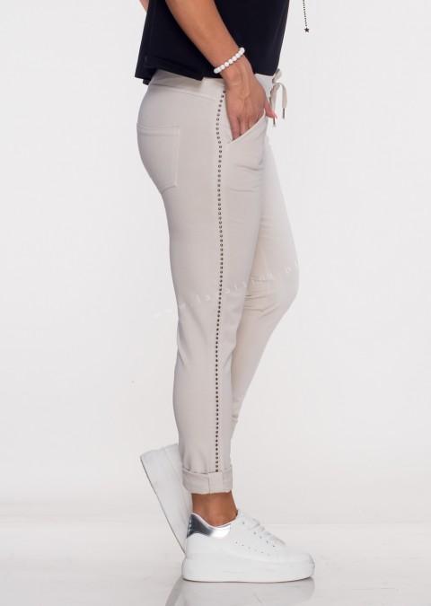 Włoskie spodnie dresowe TORELLO beżowy