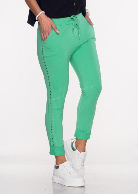 Włoskie spodnie dresowe TORELLO zielony