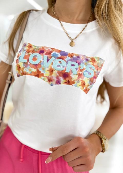 Włoski t-shirt LOVERS colorful