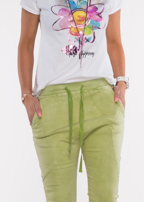 Włoskie spodnie jeanowe MILANO 2 jasny zielony /P17