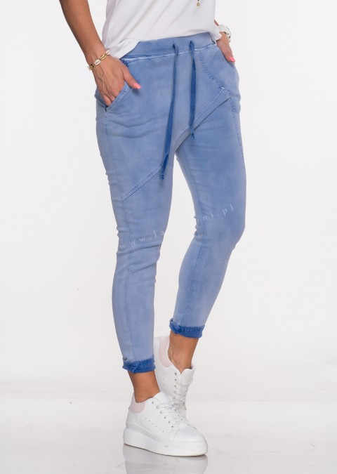 Włoskie spodnie jeanowe MILANO 2 niebieski