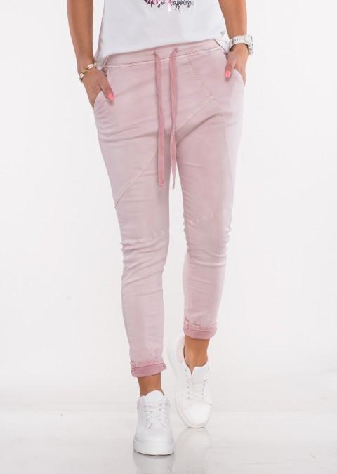 Włoskie spodnie jeanowe MILANO 2 różowe