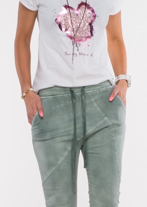 Włoskie spodnie jeanowe MILANO 2 khaki /P3