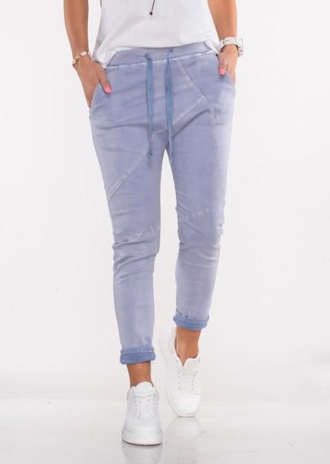 Włoskie spodnie jeanowe MILANO 2 niebieski/fiolet /P7