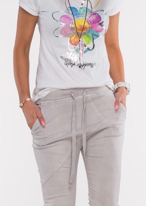 Włoskie spodnie jeanowe MILANO 2 szary /P8