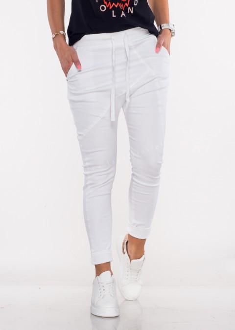 Włoskie spodnie jeanowe MILANO 2 biały