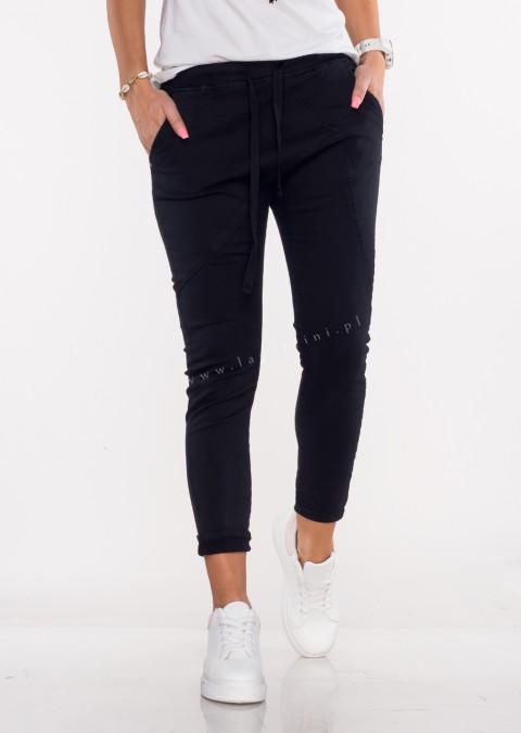 Włoskie spodnie jeanowe MILANO 2 czarny