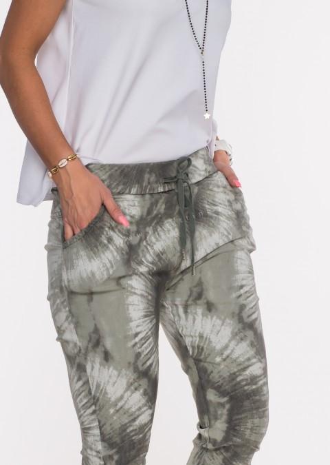 Włoskie dekatyzowane spodnie BRAVE khaki