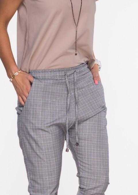 Włoskie spodnie BAGGY PUNTA kratka