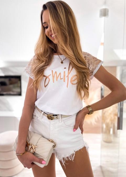 Włoska bluzka SMILE biała