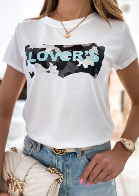 Włoski t-shirt LOVERS black moro
