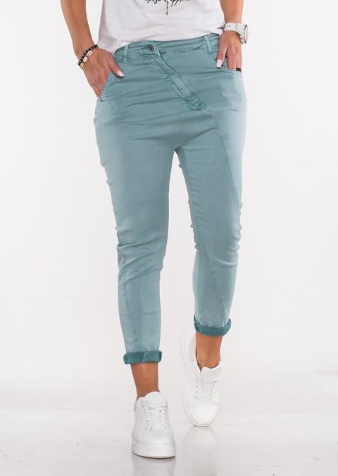 Włoskie jeansy BAGGY MORELLI morskie /66