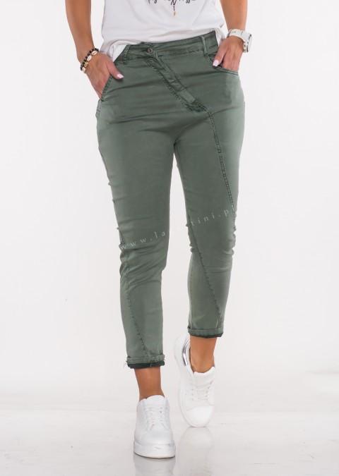 Włoskie jeansy BAGGY MORELLI khaki