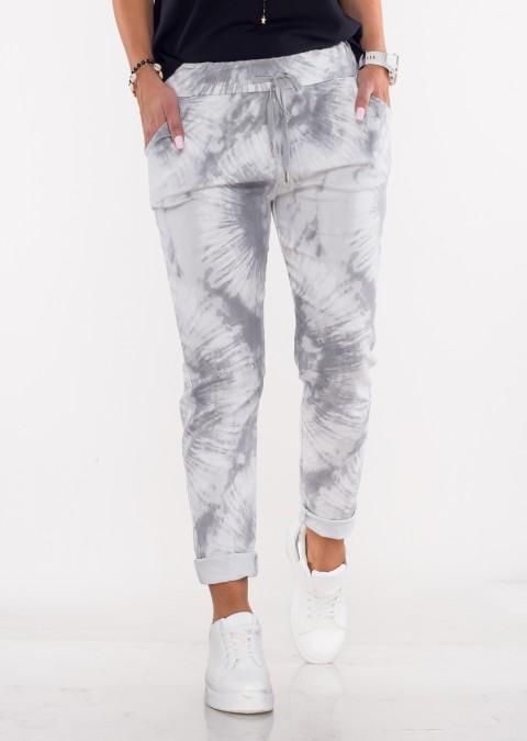 Włoskie dekatyzowane spodnie BRAVE szare