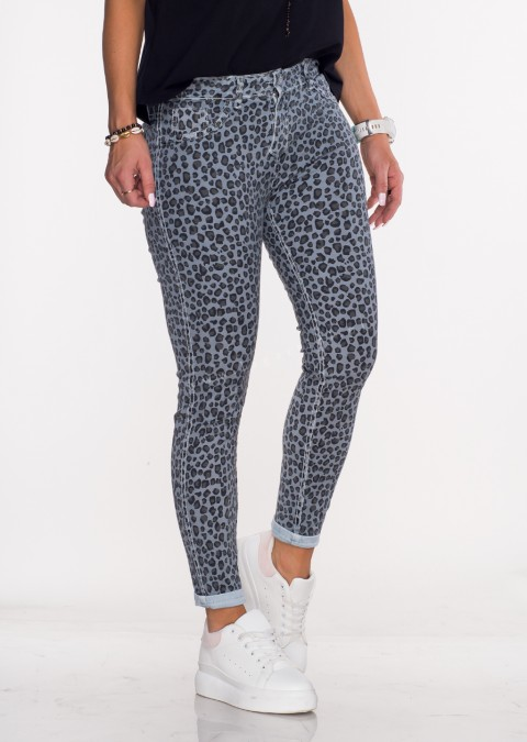 Włoskie dwustronne spodnie CLASSIC/PANTHER jasny niebieski