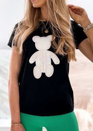 Włoski t-shirt BEAR biały