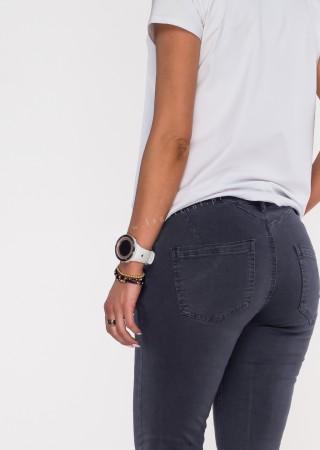Włoskie jeansy GIACOMO guziki grafitowy