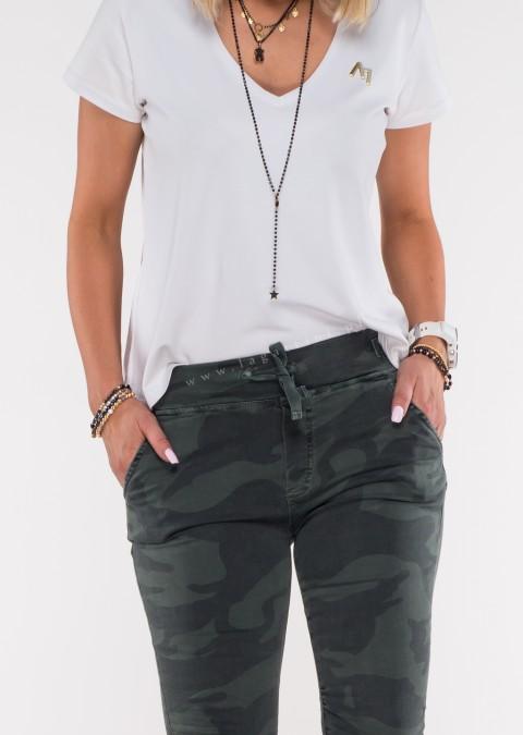 Włoskie spodnie dresowe jeans MILANO moro wzór 2