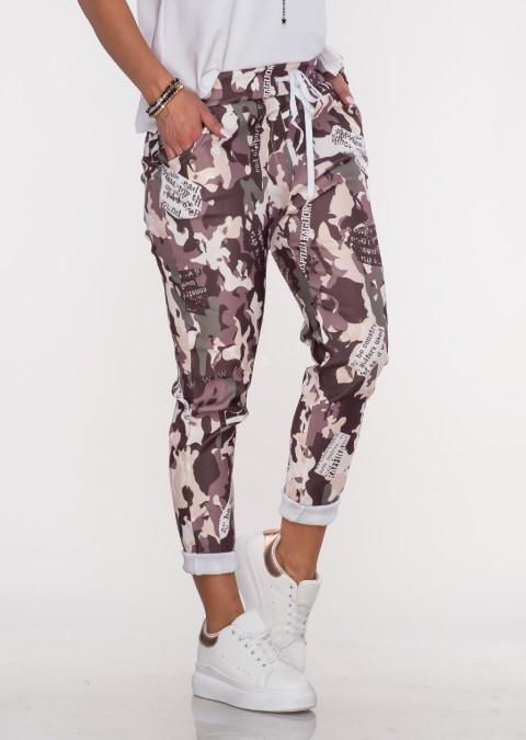 Włoskie spodnie BAGGY moro wzór 1
