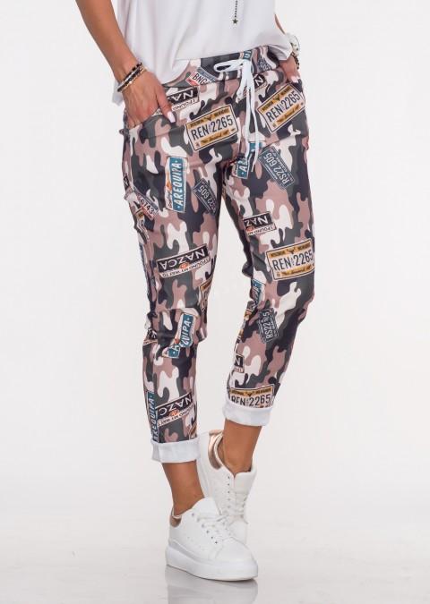 Włoskie spodnie BAGGY moro wzór 2