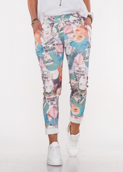 Włoskie spodnie BAGGY wzór 3