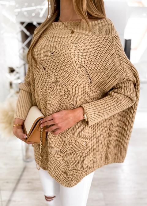 Efektowny sweter MASOTTI camel