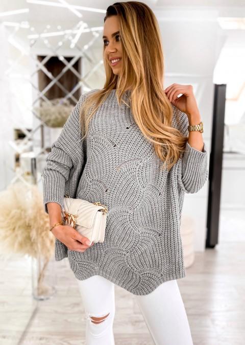 Efektowny sweter MASOTTI szary