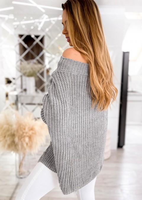 Efektowny sweter MASOTTI różowy