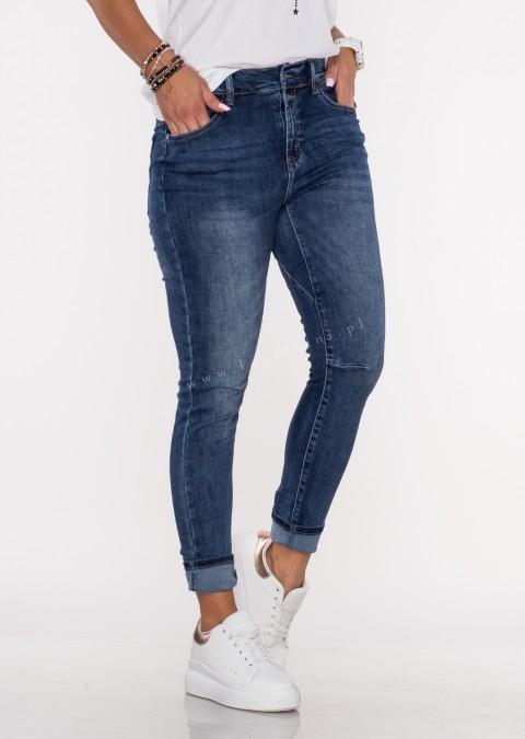 Włoskie jeansy FRASCATI 2 guziki denim