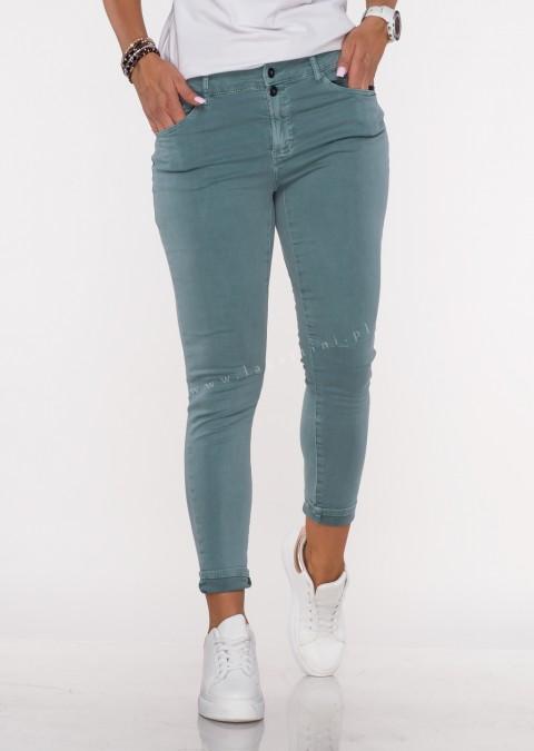 Włoskie jeansy FRASCATI 2 guziki morski /61